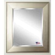 Rayne Mirrors Jovie Jane Brushed Silver Wall Mirror; 39.5'' H x 33.5'' W x 1.75'' D