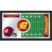 Holland Bar Stool NCAA Football Mirror Framed Graphic Art; Central Michigan