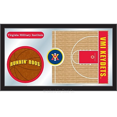 Holland Bar Stool NCAA Basketball Mirror Framed Graphic Art; Virginia Military Institute