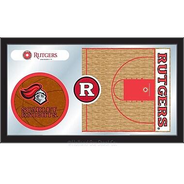 Holland Bar Stool NCAA Basketball Mirror Framed Graphic Art; Rutgers