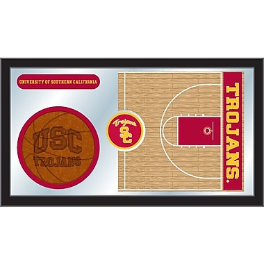 Holland Bar Stool NCAA Basketball Mirror Framed Graphic Art; Southern California
