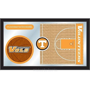 Holland Bar Stool NCAA Basketball Mirror Framed Graphic Art; Tennessee