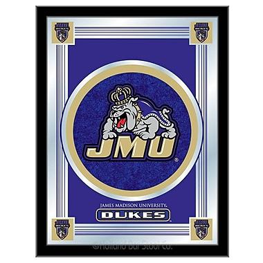 Holland Bar Stool NCAA Logo Mirror Framed Graphic Art; James Madison