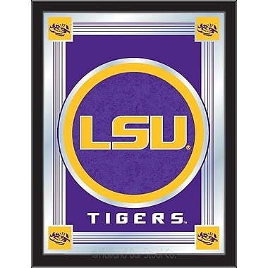 Holland Bar Stool NCAA Logo Mirror Framed Graphic Art; Louisiana State