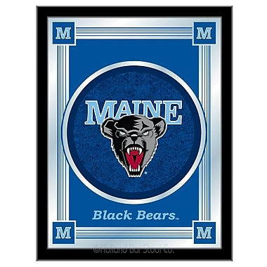 Holland Bar Stool NCAA Logo Mirror Framed Graphic Art; Maine
