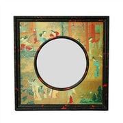 Oriental Furniture Oriental Village Scene Wall Mirror