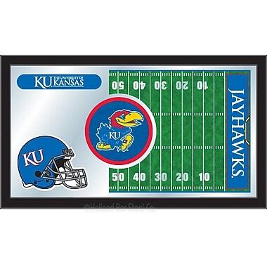 Holland Bar Stool NCAA Football Mirror Framed Graphic Art; Kansas