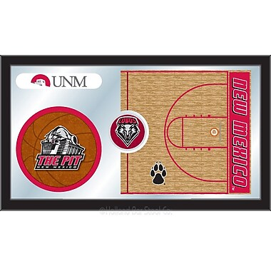 Holland Bar Stool NCAA Basketball Mirror Framed Graphic Art; New Mexico