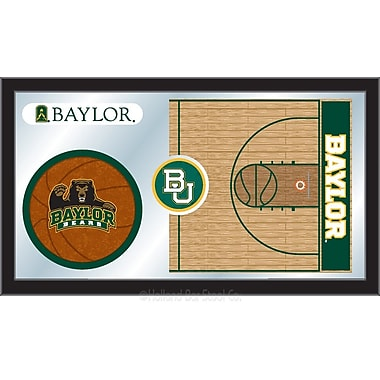 Holland Bar Stool NCAA Basketball Mirror Framed Graphic Art; Baylor