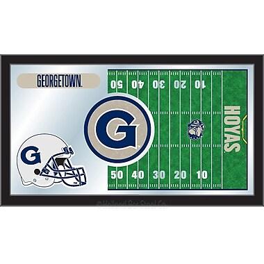 Holland Bar Stool NCAA Football Mirror Framed Graphic Art; Georgetown