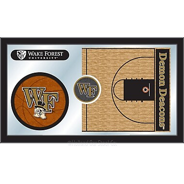 Holland Bar Stool NCAA Basketball Mirror Framed Graphic Art; Wake Forest