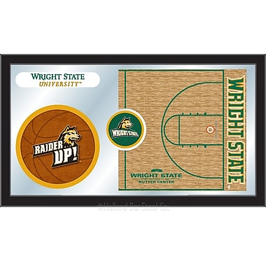 Holland Bar Stool NCAA Basketball Mirror Framed Graphic Art; Wright State