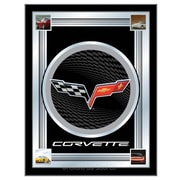Holland Bar Stool Corvette - C6 Logo Mirror Framed Graphic Art; Black / Silver