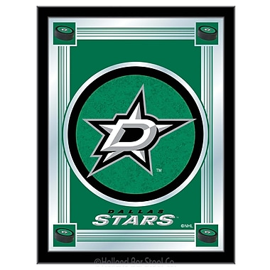 Holland Bar Stool NHL Logo Mirror Framed Graphic Art; Dallas Stars