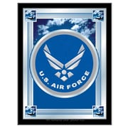 Holland Bar Stool US Armed Forces Logo Mirror Framed Graphic Art; Air Force