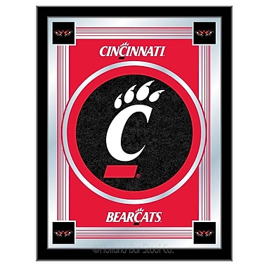 Holland Bar Stool NCAA Logo Mirror Framed Graphic Art; Cincinnati