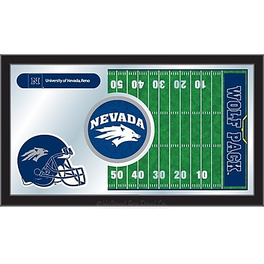 Holland Bar Stool NCAA Football Mirror Framed Graphic Art; Nevada