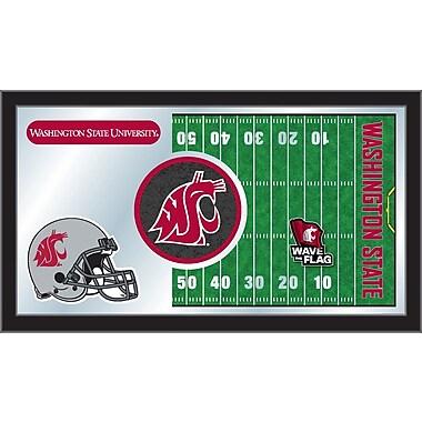 Holland Bar Stool NCAA Football Mirror Framed Graphic Art; Washington State