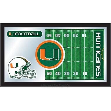 Holland Bar Stool NCAA Football Mirror Framed Graphic Art; Miami