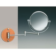 Windisch by Nameeks Wall Mounted Double Face Magnifying Mirror; Satin Nickel