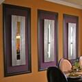 Howard Elliott Greensboro Wall Mirror; Brushed Silver Leaf with Black Accents