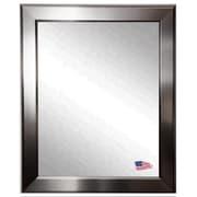 Rayne Mirrors Sleek Silver Wall Mirror; 24'' H x 20'' W x 0.75'' D