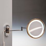 Windisch by Nameeks Wall Mounted Round Magnifying Mirror; Gold