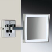 Windisch by Nameeks Wall Mounted Square Magnifying Mirror; Gold