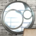 Wildon Home   Gear Wall Mirror