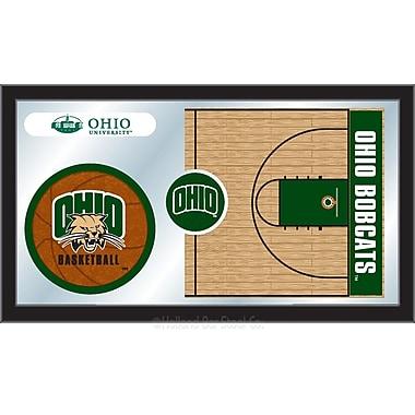 Holland Bar Stool NCAA Basketball Mirror Framed Graphic Art; Ohio University