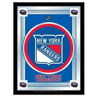 Holland Bar Stool NHL Logo Mirror Framed Graphic Art; New York Rangers