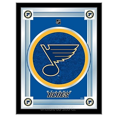 Holland Bar Stool NHL Logo Mirror Framed Graphic Art; St. Louis Blues