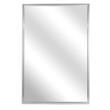 Bradley Corporation Fixed Angle Tilt-Frame Wall Mirror; 36'' H x 18'' W