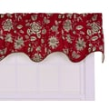 Ellis Curtain Jeanette Lined Duchess Filler 50'' Curtain Valance; Red