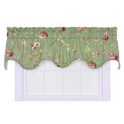 Ellis Curtain Coventry Rod Pocket Scalloped 70'' Curtain Valance; Green