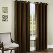 Commonwealth Home Fashions Ripcord Grommet Curtain Single Panel; Chocolate