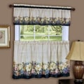 Achim Importing Co Antique Floral 58'' Valance and Tier Set; 58'' W x 24'' D