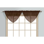 United Curtain Co. Monte Carlo Waterfall 60'' Curtain Valance; Chocolate