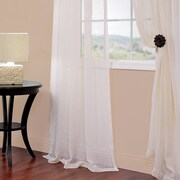 Half Price Drapes Solid Voile Sheer Curtain Panels (Set of 2); 84'' L x 50'' W