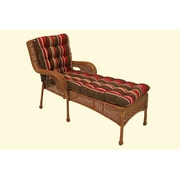 Blazing Needles Blazing Needles Tufted Standard Outdoor Chaise Lounge Cushion; Red Haiku Garden