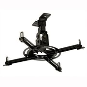 Peerless Paramount Universal Flush Ceiling Projector Mount; Black
