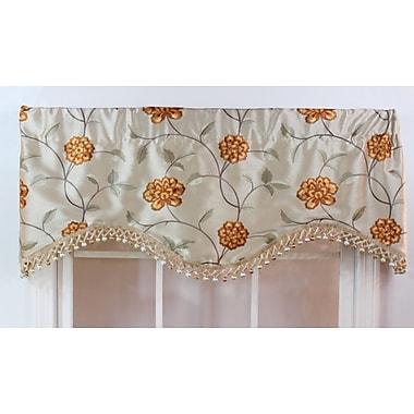 RLF Home Stella 50'' Curtain Valance; Beige