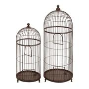 Woodland Imports Garden Decor Bird Cage (Set of 2)
