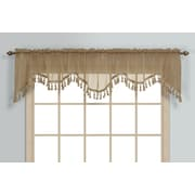 United Curtain Co. Monte Carlo Rod Pocket Scalloped 59'' Curtain Valance; Taupe