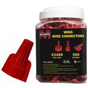 MorrisProducts Twisted Wing Large Jar Connectors; Red