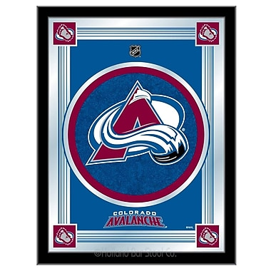 Holland Bar Stool NHL Logo Mirror Framed Graphic Art; Colorado Avalanche