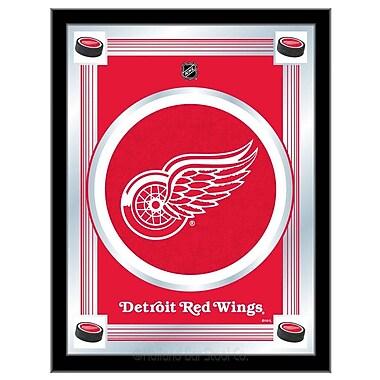 Holland Bar Stool NHL Logo Mirror Framed Graphic Art; Detroit Red Wings