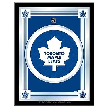Holland Bar Stool NHL Logo Mirror Framed Graphic Art; Toronto Maple Leafs