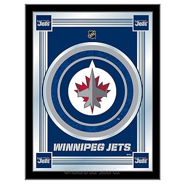 Holland Bar Stool NHL Logo Mirror Framed Graphic Art; Winnipeg Jets