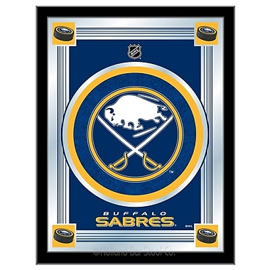 Holland Bar Stool NHL Logo Mirror Framed Graphic Art; Buffalo Sabres